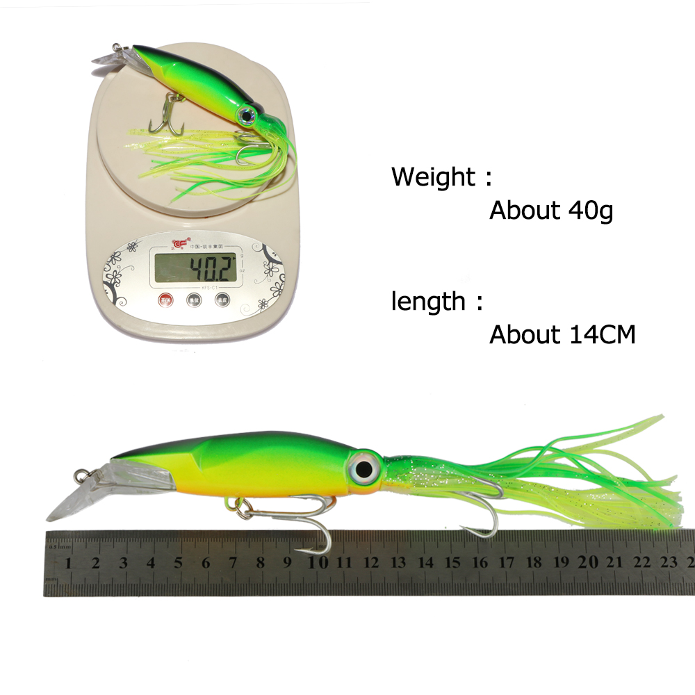 Goture Hard Plastic Fishing Lure Rig Minnow Squid Tentacle Diving Trolling Bait 6 Colors 14cm 40g Hook Size 1/0#-in Fishing Lures from Sports ...  sc 1 st  AliExpress.com & Goture Hard Plastic Fishing Lure Rig Minnow Squid Tentacle Diving ...
