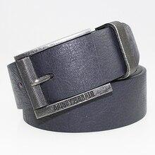 Мода PU 3.8 см широкий кожаный ремень мужчин с железной пряжкой дизайнерские ремни мужчин высокого качества бесплатная доставка
