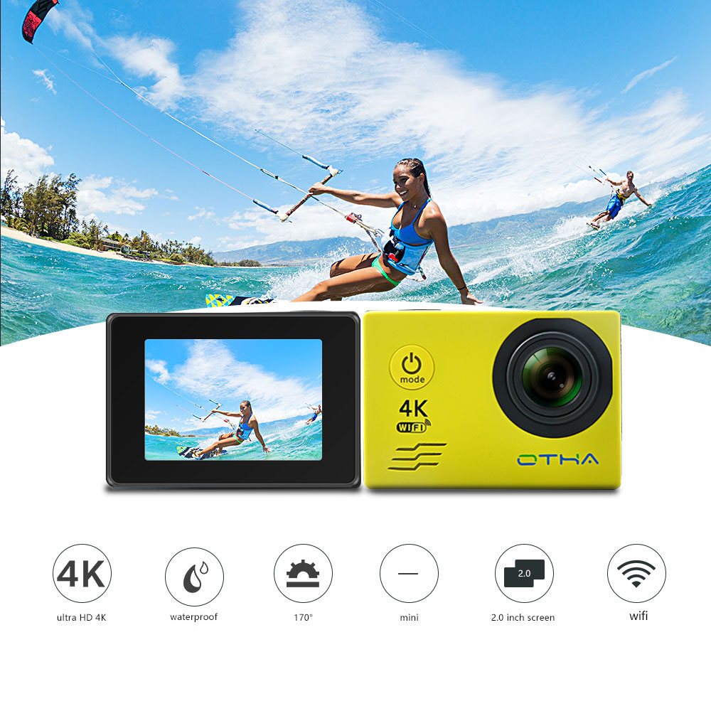 OTHA 4K Action Camera Ultra HD WIFI 1080P/30fps 2.0 LCD 170 lens Aksiyon Kamera Waterproof 30M(99ft)DV Helmet Cam Sports Camera