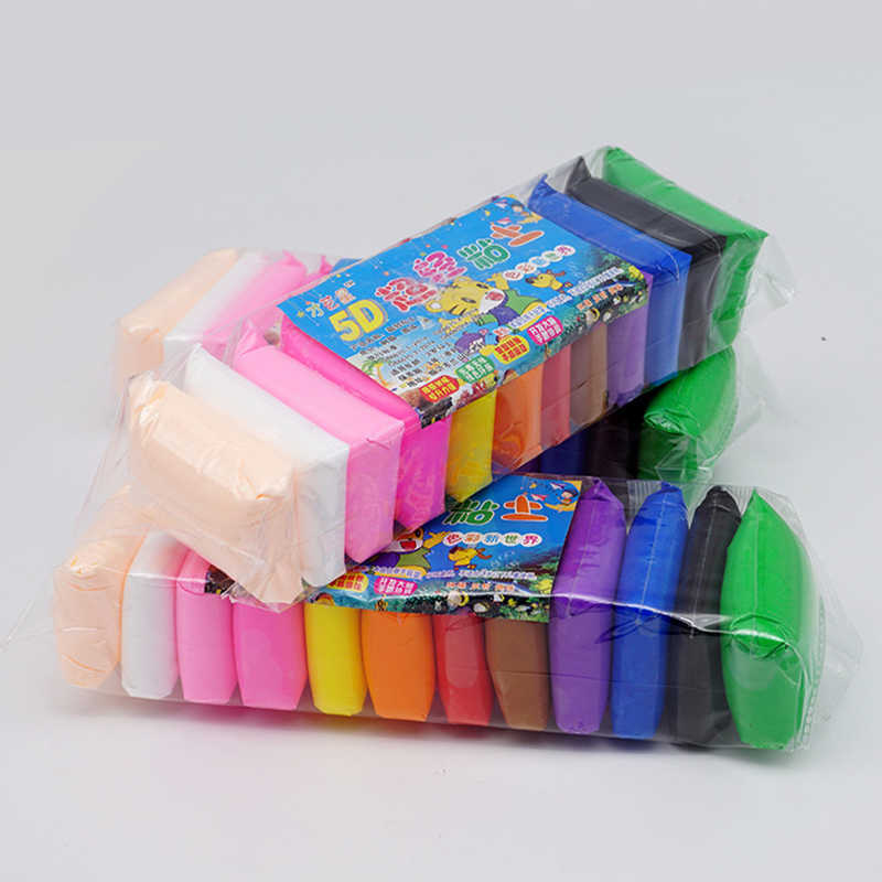 12 Color Air Dry Light Clay With 3 Tools DIY Clay Educational Toy Colorful  Creative Handgum Craft Toy Kid Girls Birthday Gifts