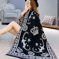 Мода 2016 люксовый бренд кашемир шарф женщин Теплые Кардиганы Шали и Шарфы Для Женщин шерстяные одеяла Мыса мусульманских Пончо