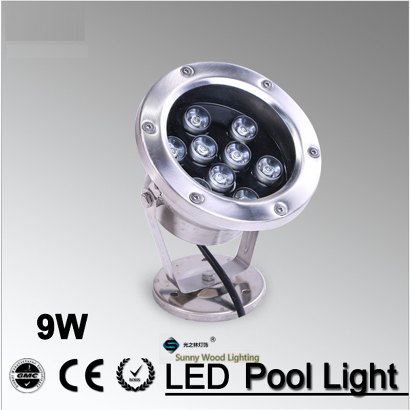 swimming pool lighting 9W underwater light,landscape outdoor light led ip68 pool lights LPL-A-9W-24V 9w led flood lights outdoor fountain lamps holiday lighting garden underwater ip68 waterproof rgb swimming pool light dc24v