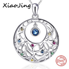 New arrival 925 sterling silver round shape Flower vine chain pendant&necklace with CZ diy fashion jewelry making for women gift 925 sterling silver cross flower red cz beautiful biker rocker punk pendant 8a010 steel necklace 24