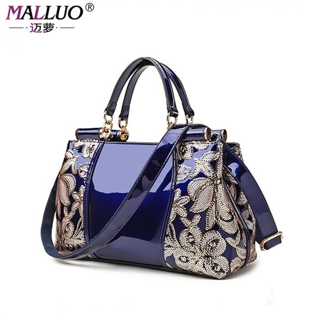 MALLUO Women Bags Luxury Handbags Designer Ladies Messenger Bag Bolsa Feminina Genuine Leather Women Shoulder Bag Famous Brand