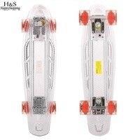 New Boys And Girls Skateboard Full Light Up Deck LED Flash Generating Blasts Bright Mini Skate