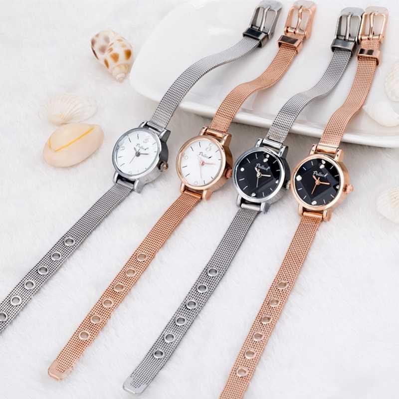 21,5 см новые женские наручные часы люксовый бренд Кристалл женские  повседневные Простые платья браслет e1e67409711
