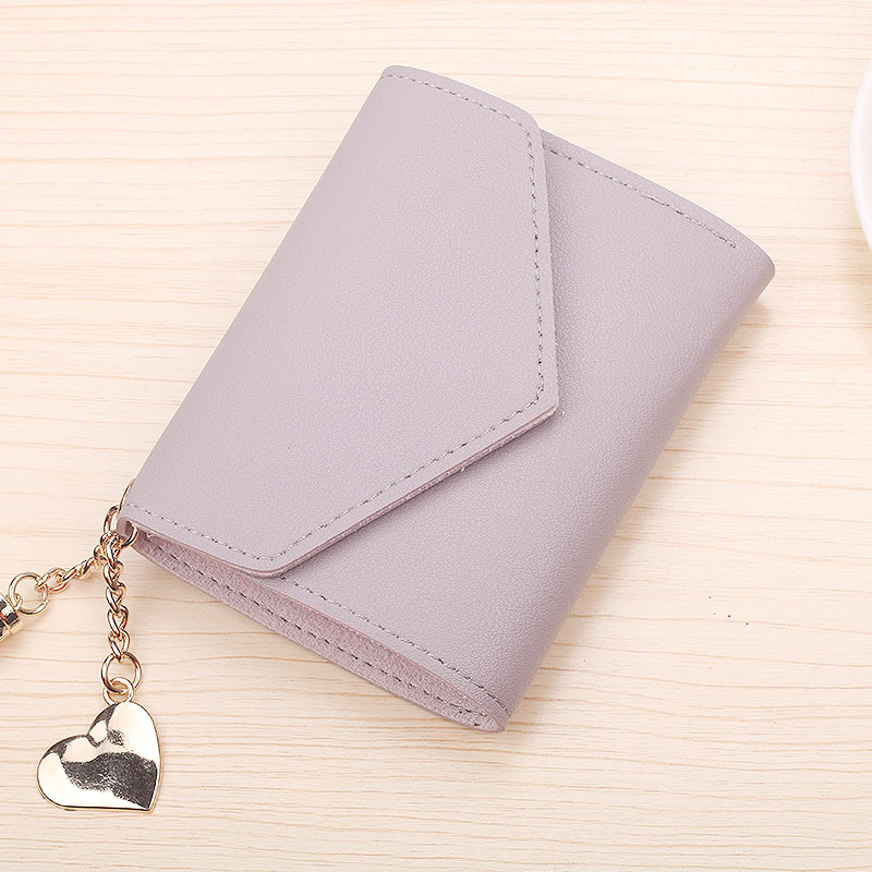 Модный женский кошелек с кисточками для кредитных карт, маленькие Роскошные брендовые кожаные короткие женские кошельки и кошельки Carteira Feminina - Цвет: Фиолетовый