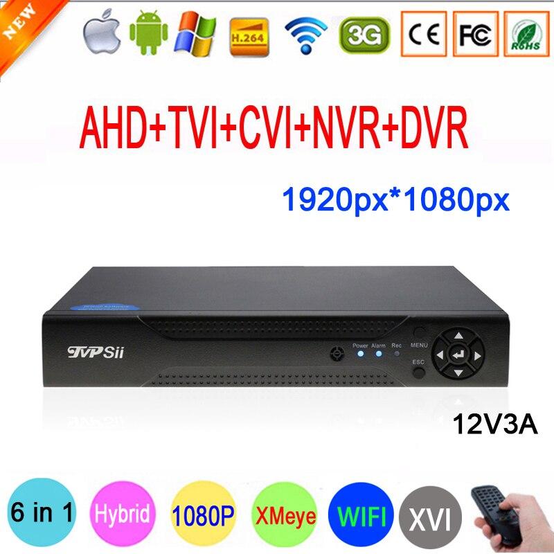 2MP Surveillance Caméra Xmeye 1080 P Hi3531A 16CH 16 Canal 6 dans 1 Coaxial WIFI Hybride NVR CVI TVI AHD CCTV DVR Livraison Gratuite