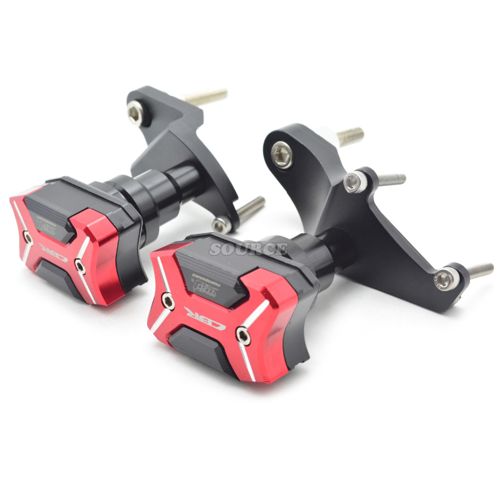 Falling Protectors Motorcycle CNC Aluminum Alloy Frame Slider Anti Crash Caps Pads Engine for Honda CBR500R 2013 2014 2015 2016 cyt alloy steel motorcycle engine valve for honda cg200 dark grey pair
