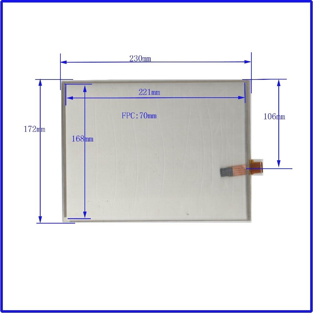 ZhiYuSun POST Touch Screen 230 * 172 Sənaye tətbiqləri üçün masa üçün 10.4 düymlük şüşə