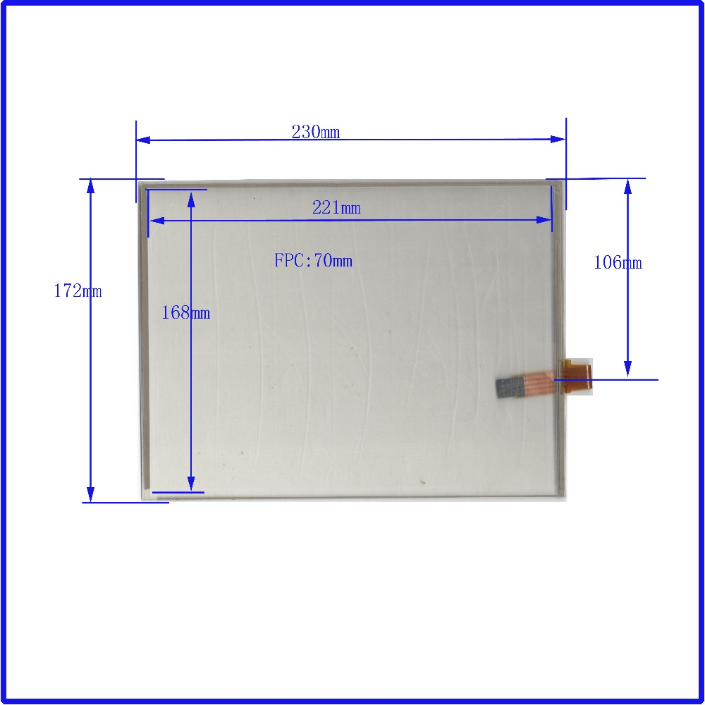 ZhiYuSun POST Touch Screen 230 * 172 10,4 polegadas de vidro para mesa para aplicações industriais