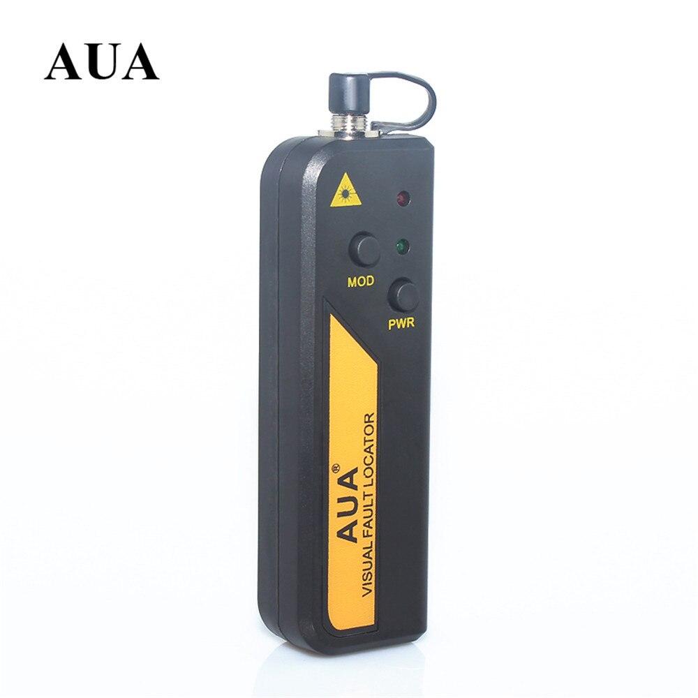 AUA-10 Pan Type 10mW Metal Visual Fault Locator Fiber Optic Cable Tester 650nm