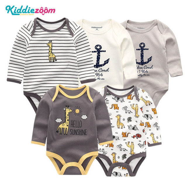 a97174ca5 5 PCS lot long Sleeve Newborn Baby Boys Clothing Set Infant Baby ...