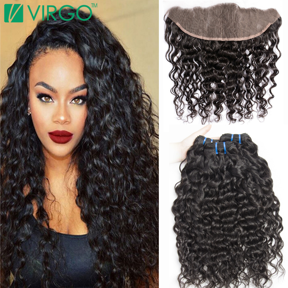 Lace Frontal Closure With Bundles Wet Wavy Brazilian Virgin Hair With Lace Frontal Weave With ...