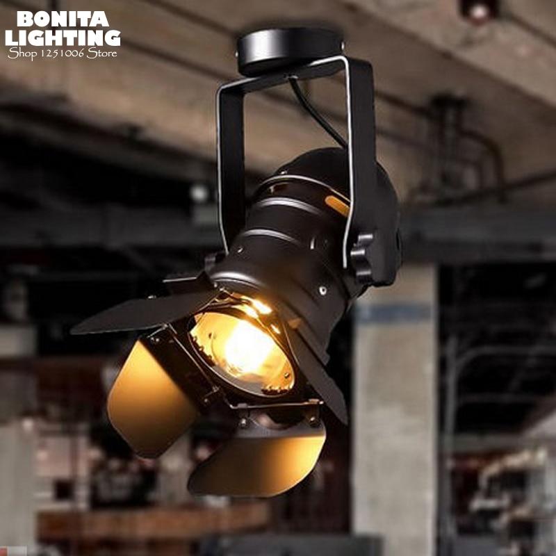 Us 43 62 Off Retro Style Pendant Lamp Led Studio Projector Hanging Lamps Vintage Camera Design Lighting In Lights