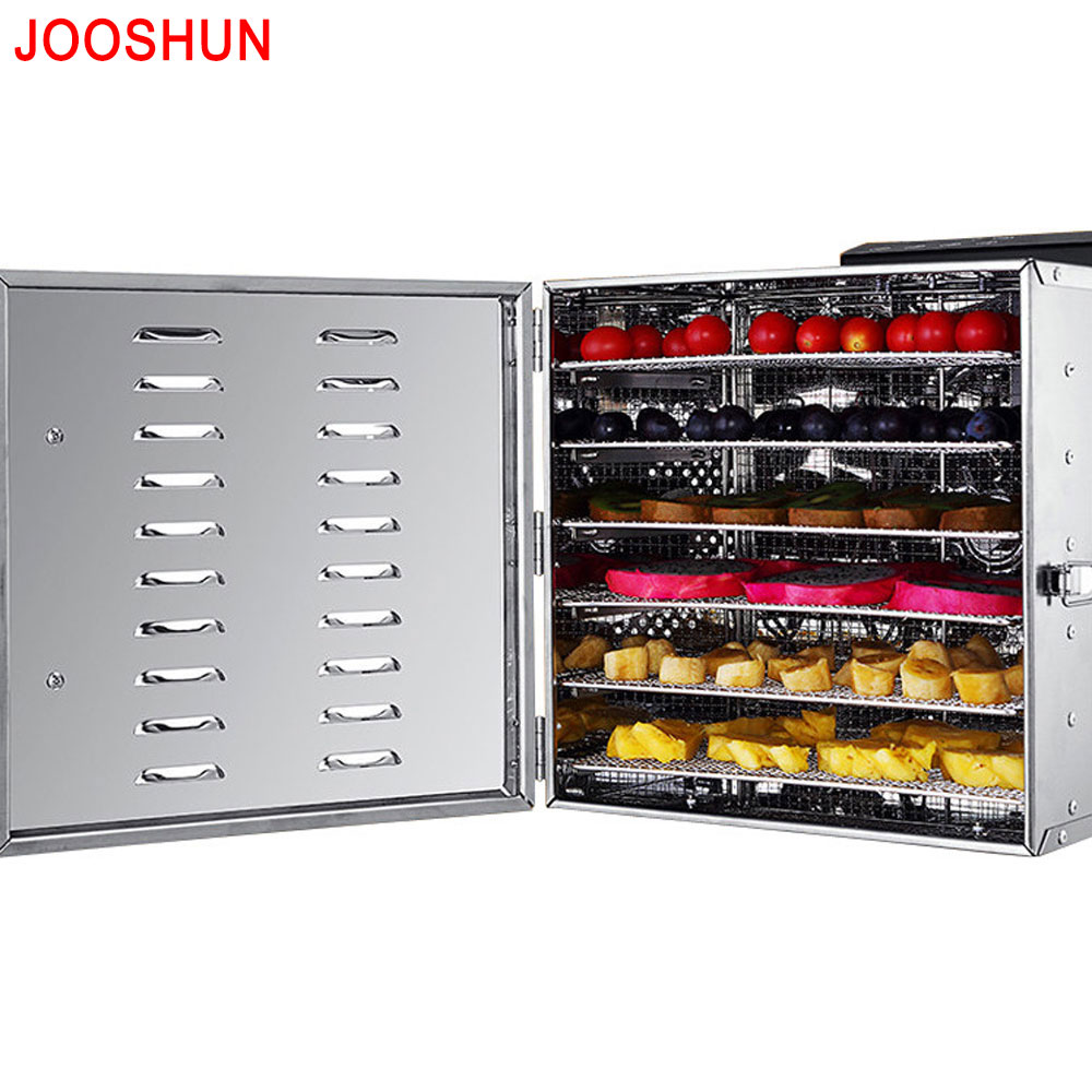 Top quality Multifunctional Household Automatic 6 trays Stainless steel Food Dehydrator Fruits Snacks Meat Dryer Drying Machine fast food leisure fast food equipment stainless steel gas fryer 3l spanish churro maker machine