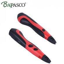 Oled Screen 3D Pen 2017 Hot Sale Bapasco 3D Magic Pen Adjustable Low Temperature PCL Filament Doodle Drawing Tools For Kids Gift