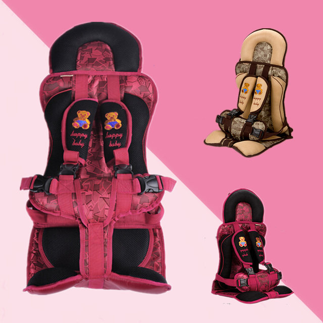 32*32*52CM Red and Coffee Portable Baby Safety Seat Children's Chairs In The Car Thickening Sponge Baby Kids Car Seats
