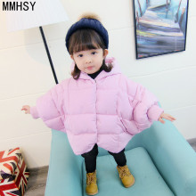 hot deal buy mmhsy kids girls baby coats 2017 new fashion winter 6m 1-4 years girls children outerwear cotton coat 91319