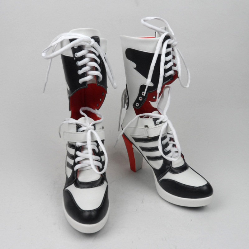 1d3ab6e043e7 suicide squad harley boots bota accessories quinn black women for harley  shoes harley costume cosplay suicide squad quinn