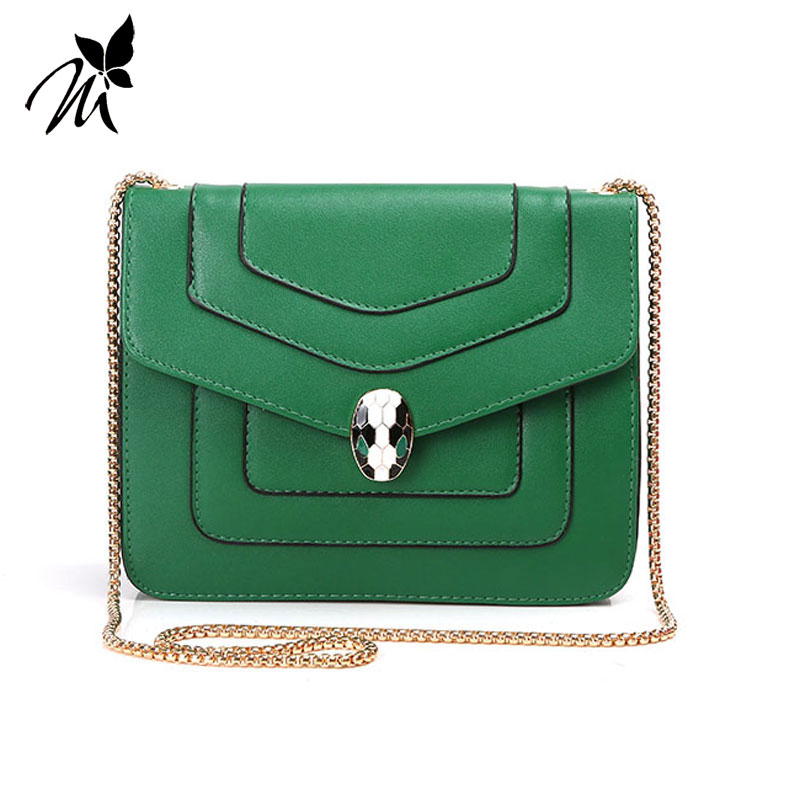 The snake female single shoulder bag in Europe and the new chain worn INS hot style restoring ancient ways joker small package the original single in europe and america 2015
