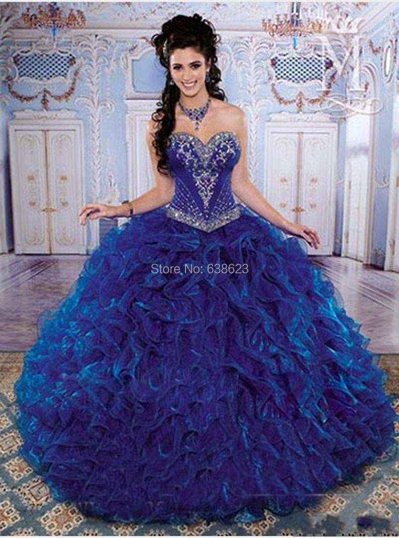 High Quality Royal Blue Quinceanera Dress-Buy Cheap Royal Blue ...