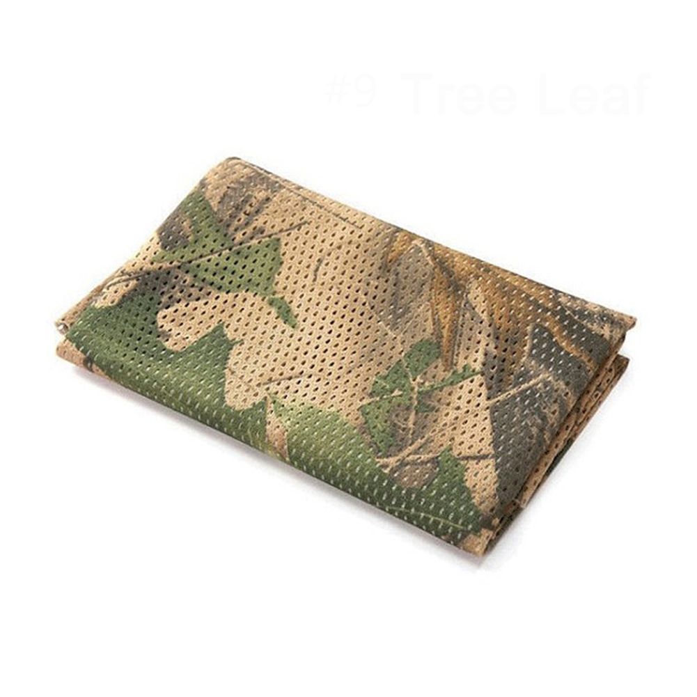 Army green military Scarves Unisex Fish Net Mesh Tactical Camouflage Scarf Veil Neckerchief for Outdoor Activities and War Game