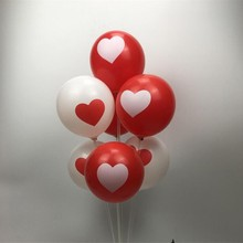 Air ball 50pcs / lot 12inch print heart baloons wedding decoration balloons party birthday kids toys valentines day
