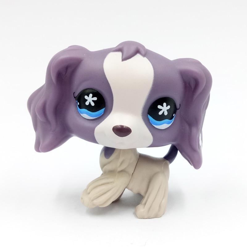 Real animal font b pet b font shop toys Cocker SPANIEL 672 light dark purple dog
