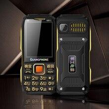 Teléfono con pantalla de larga espera para desbloquear, doble pistola D8200, tres canales de carga, TV gratis