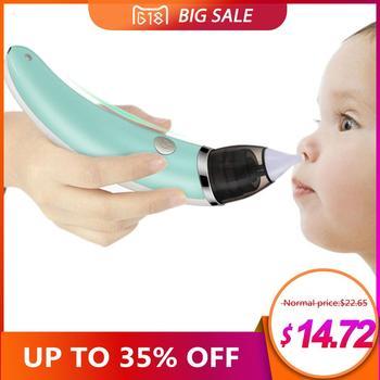 Детский носовой аспиратор Электрический Безопасный гигиенический очиститель носа с 2 размерами наконечников носа и полости рта присоска д...