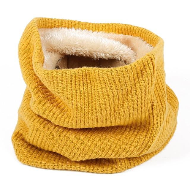 Зимние теплый шерстяной платок для женщин обувь девочек кольцо шарфы для трубки средства ухода за кожей Шеи Теплые кашемировый шарф обёрточная