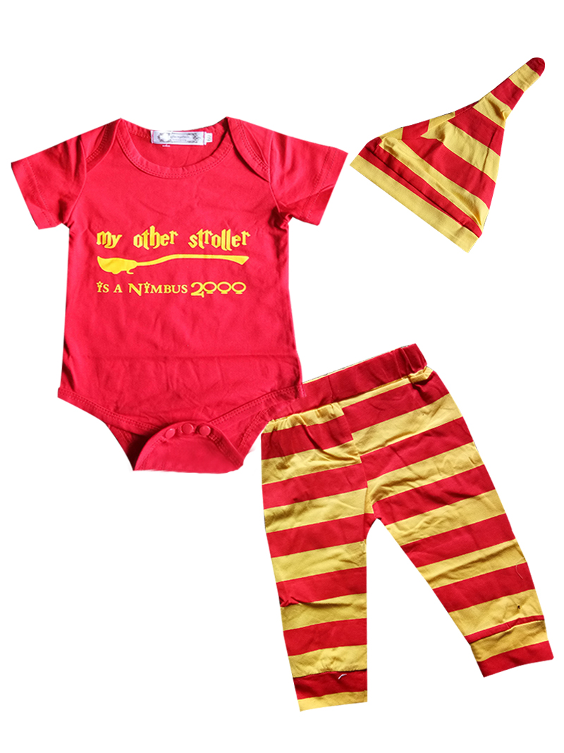 d47a8a522ce3 Detail Feedback Questions about Newborn infant Baby Boy Clothing Set Letter  print harri potter baby girls bodysuit+striped pants+hat Boy Girls Clothes  ...