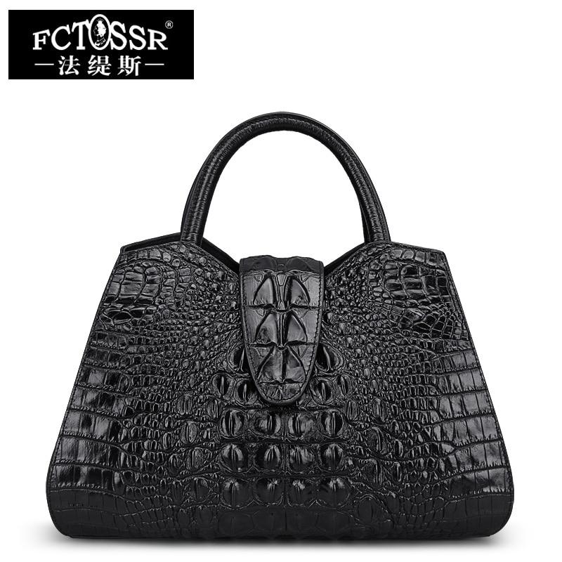 Luxus Handtaschen Krokoprägung Leder Schultertasche 2018 - Handtaschen