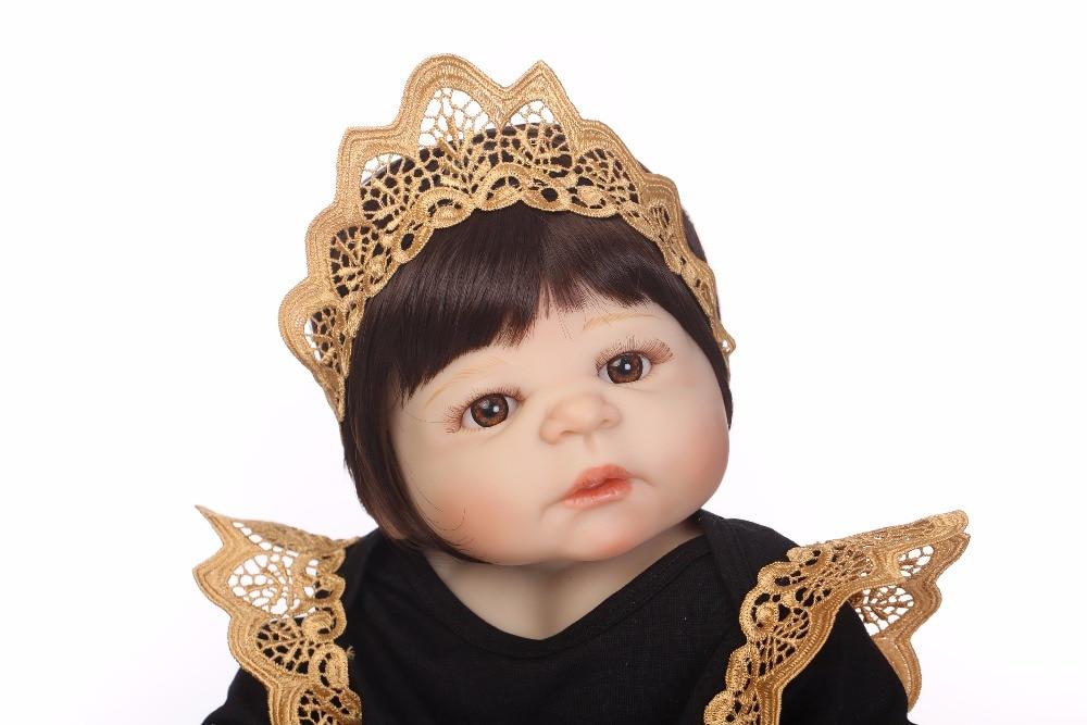 NPK 55 سنتيمتر الحقيقي كامل الجسم سيليكون فتاة تولد من جديد الطفل دمية لعبة الرضع الأميرة الدمى Bebes تولد من جديد Bonecas Brinquedos-في الدمى من الألعاب والهوايات على  مجموعة 3