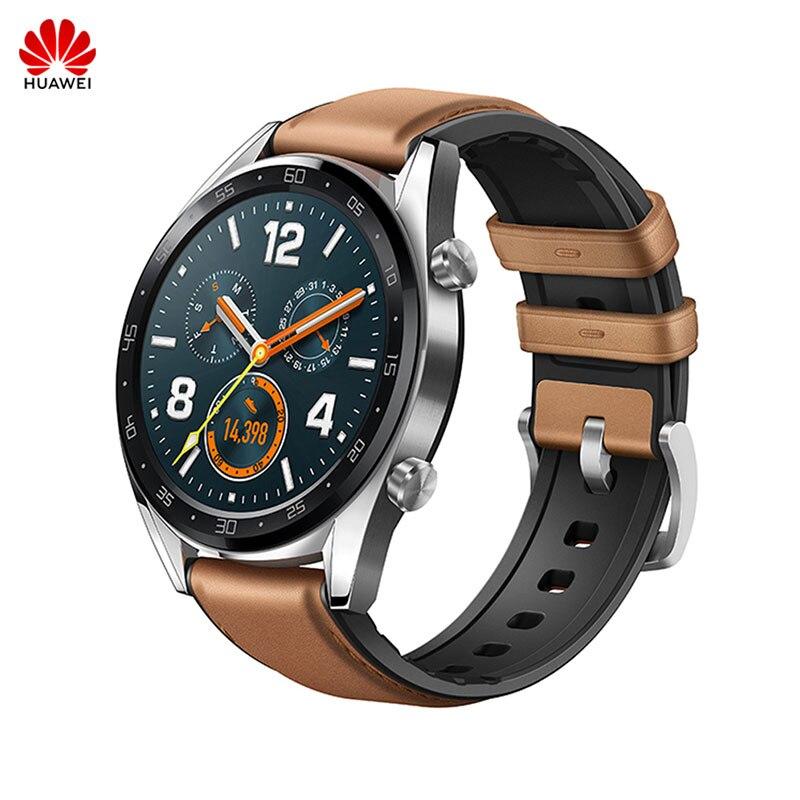 Huawei montre GT Sport de plein air Smartwatch Support GPS NFC écran coloré 5ATM étanche rappel de Message d'appel pour Android iOS