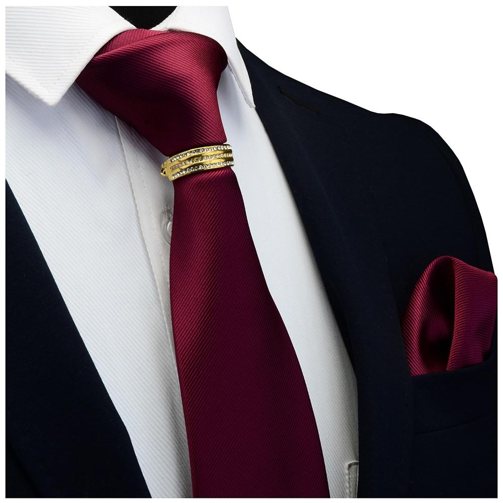 GUSLESON New Designer Sólidos Plain Homens Bolso Gravata Borboleta Gravata Quadrado Fecho Set Vermelho Amarelo Verde Gravatas De Seda Terno de Negócio de Casamento