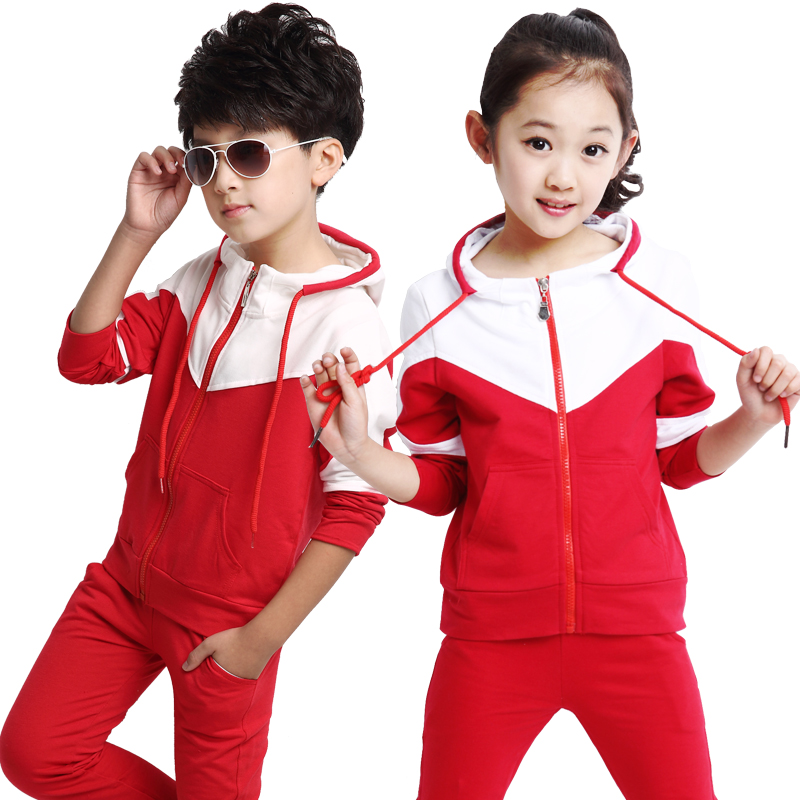 цена на 2018 New Back to School Outfits Spring Autumn Boys Girls Clothing Set Kids Suit Set Casual 2 Pcs Sport Suit For Girl Tracksuit