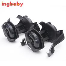 1 Pair Of Black Children Winds And Fires Run Shoes Light Roller Skating Star Wheel Meteor Cool Skating Shoes ingbaby WJ1075