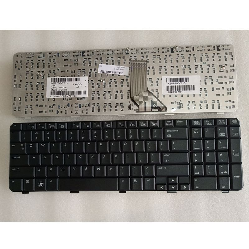US Laptop Keyboard FOR HP Pavilion G71 Compaq Presario CQ71 CQ71-100 CQ71-200 CQ71-300 English 517627-001 BLACK Frame 532809-001