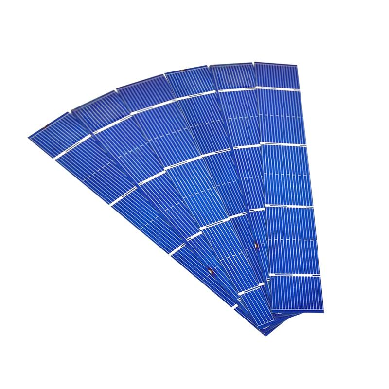Aiyima 50pcs Solars Panel 156x26mm Solar Panel polycrystalline Silicon Flexible Solar Cell DIY China Panneau Solaire 0.7W 0.5V