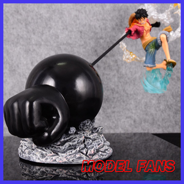 MODEL FANS IN-STOCK One Piece luffy and big fist effect gk resin ovc made Figure toy For Collection model fans in stock the same paragraph tsume 42cm one piece edward newgate gk resin made for collection