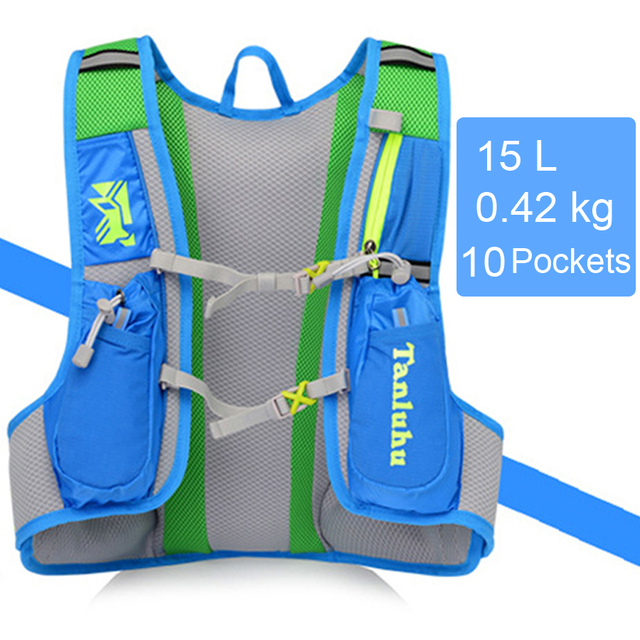 Lightweight Running Hydration Vest Backpack 15L Outdoor Trail Running Marathon Cycling Hiking Climbing Outdoor Sport Bag Pack XL 5