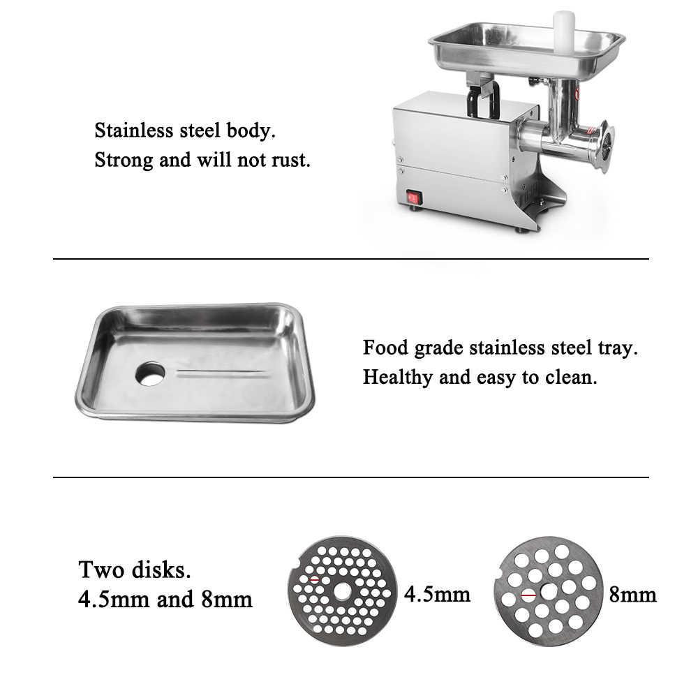 GZZT przemysłowa maszynka do mięsa wielofunkcyjny ze stali nierdzewnej elektryczna maszynka do mięsa urządzenie do siekania żywności maszyna do produkcji kiełbasy 80kgs/h