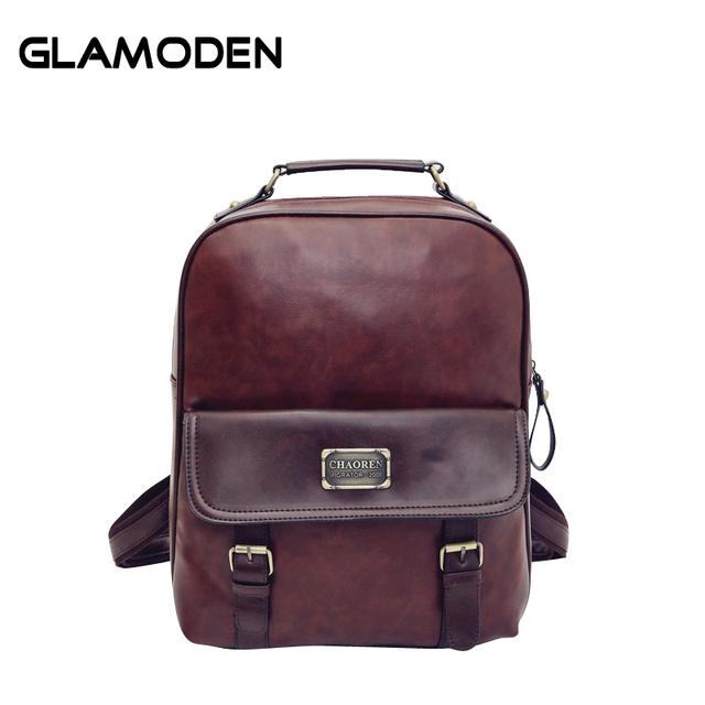 399d5303c154 2017 New Women Backpack School Bag PU Leather Backpack Female College  Vintage Leisure Travel Backpack for High School Students