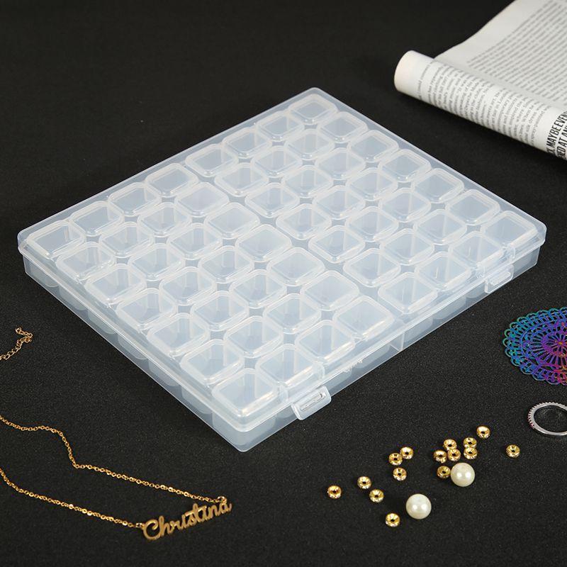 56 siatki 5D DIY diament malarstwo wiertarka Box biżuteria Box haft ze strasem kryształ organizator koralików futerał do przechowywania pojemnik nowy
