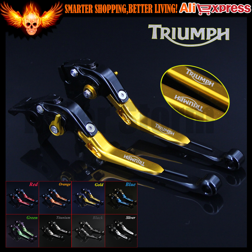 все цены на  CNC Adjustable Folding Motorcycle Brake Clutch Levers For Triumph 675 STREET TRIPLE 2008 2009 2010 2011 2012 2013 2014 2015  онлайн