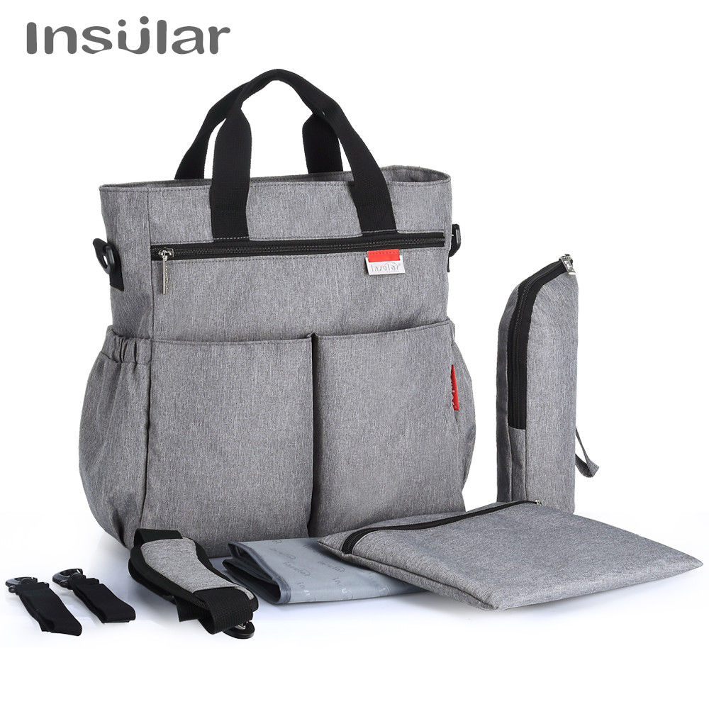 2018 Fashion Baby Diaper Bag Multifunctional Nappy Bags Waterproof Changing Bag Nappy Diaper Stroller Bag