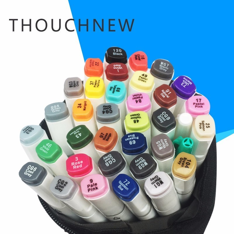 TOUCHNEW 30 36 40 Color Graphic Marker Pen Set Sketch Art Markers Double Headed Art Pens Painting Drawing Supplies With 5 Gifts я immersive digital art 2018 02 10t19 30