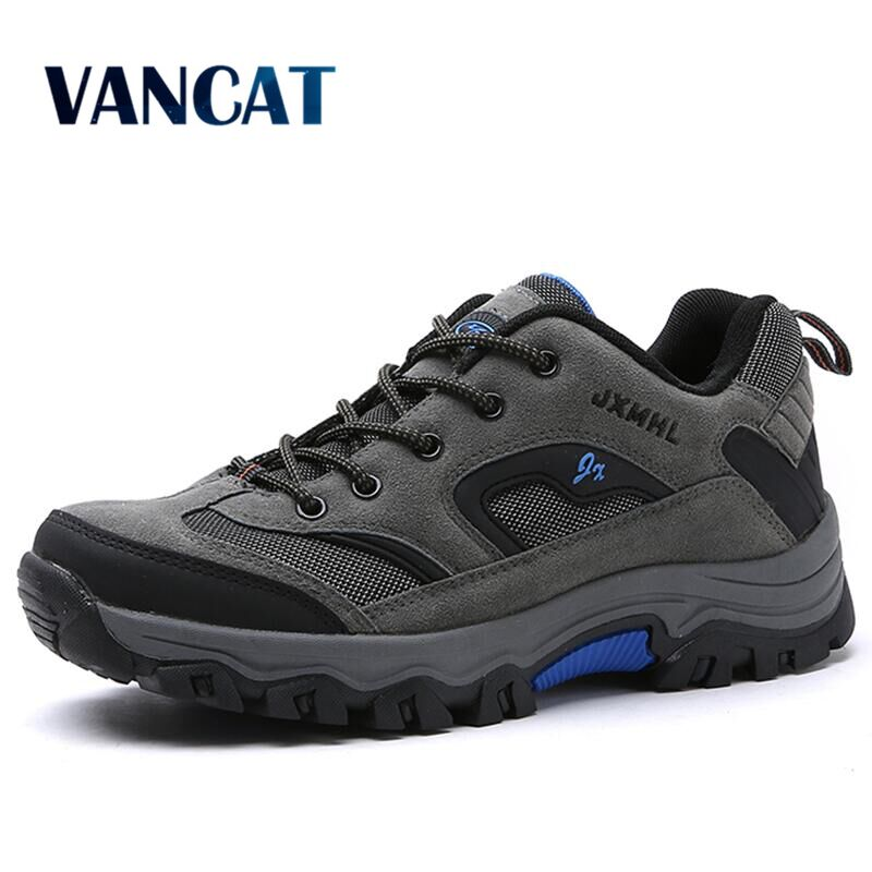 Vancat Brand Big Size 39-47 Fashion Men Shoes Comfortable Waterproof Outdoor Casual Shoes Lace-Up Spring Autumn Rubber Sneakers